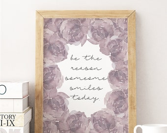 Print -- Life, Love, Smile, Printable, Instant Download