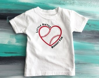 Little Sister Biggest Fan shirt, Little Sister Baseball Shirt, Baseball Sister shirt,