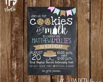 Cookies & Milk Invitation