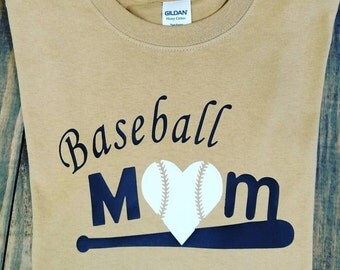 Baseall Mom Tee Shirt (customized for your team colors)