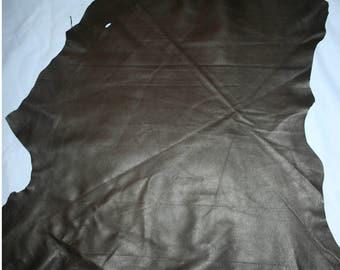 Genuine garment Quality Brown Textured Leather - half hide