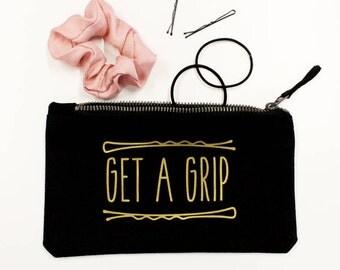 Get A Grip Hair Accessory Zip Bag