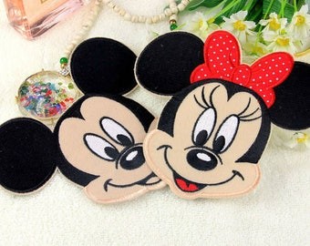 Mickey and Minnie Mouse Iron on Patch // Cute Disney Characters // Animal patches