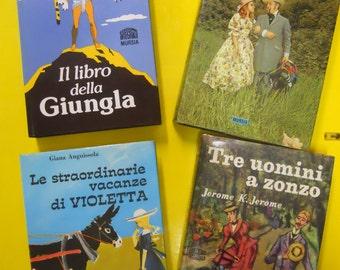 vintage children's books 4 1965 1968 extraordinary violet holidays ROSELLA three men on the bummel 1972 Jungle Book 1988