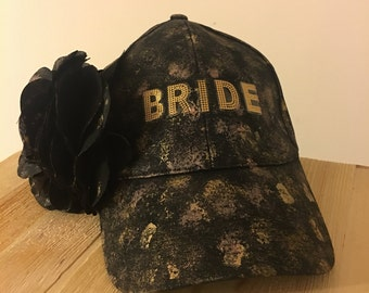 Custom Bride Hat with Detachable Flower Clip