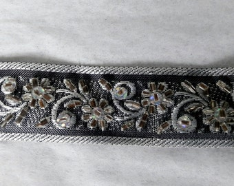 Beaded silver trim