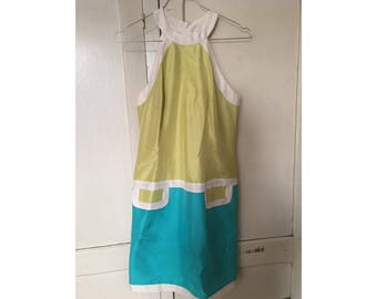 Vintage mod colorblock dress (1960s)