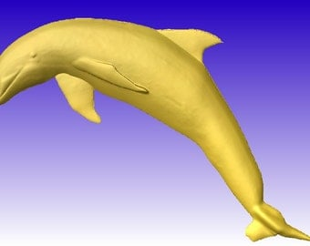 Dolphin Vector Relief Art for cnc projects or sign carving patterns in stl file format for download only