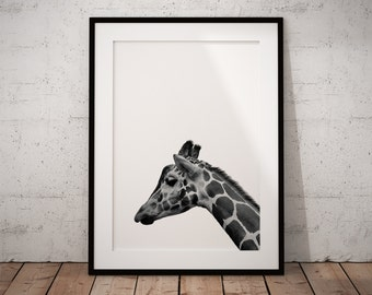 Giraffe Print Art, Safari Nursery, Giraffe, Nursery Wall Giraffe, Safari Nursery Art, Giraffe Art, Giraffe Print, Safari Nursery Print