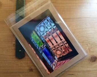 Handmade Card with Image of Moroccan Window