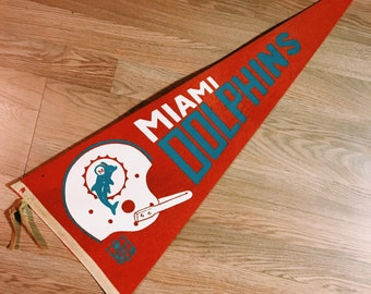 Vintage Miami Dolphins Pennant