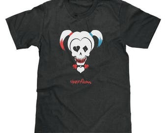 Harley Quinn Skull Shirt Joker DC Comics Suicide Squad Hello Puddin Daddy's Lil Monster Available In Adult, Youth, Unisex And Ladies Sizes