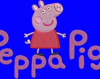 PEPPA PIG DESIGN. Machine Embroidery Design. Instant Download.