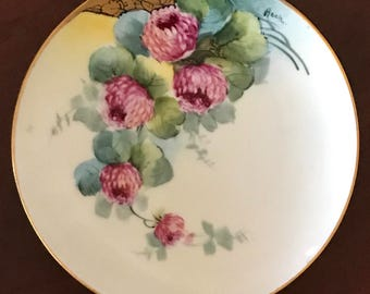 "Vintage Hand Painted China EW Donath 6"" Plate, Titanic Austria, Signed"
