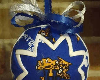Handmade University of Kentucky Quilted Ornament
