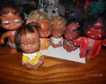 Vintage Hong Kong Asian/Indian Dolls-REDUCED