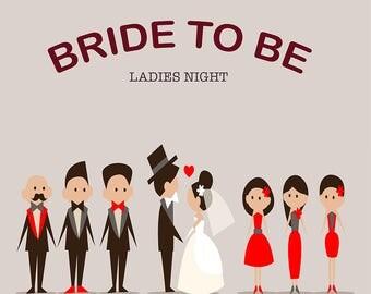 Printable Bride To Be Backdrop, Ladies Night