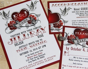rockabilly wedding invitations | etsy uk, Wedding invitations