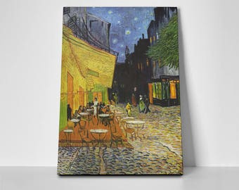Cafe Terrace Poster or Canvas by Vincent van Gogh | Cafe Terrace Poster or Canvas