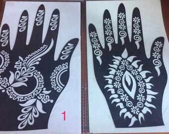 Bundle Reusable Henna Stencil
