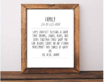 Family Definition Printable