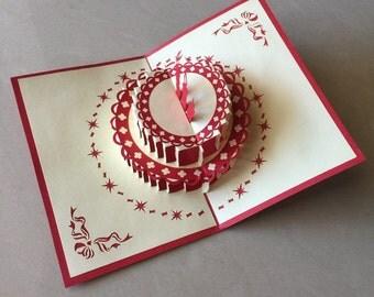2# Cake Pop Up Card, Pop-Up Card, 3D Card, Birthday Pop Up Card, Birthday Card