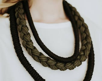 ROPE KNOT NECKLACE knotted spiral(L)