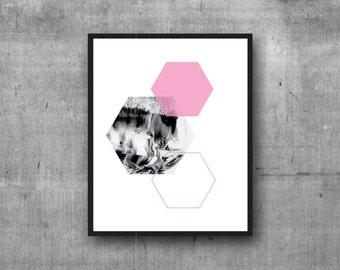 Geometric Digital Print, Graphic Print, Digital Print, Wall Decor