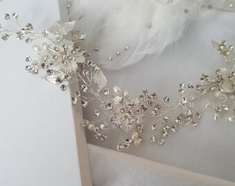 Wedding Hair Vine, Silver Bridal Head Piece, Gold Bridal Hair Accessory, Hair Vine, Bridal Accessories