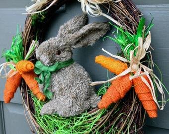 Happy Easter Rabbit Wreath