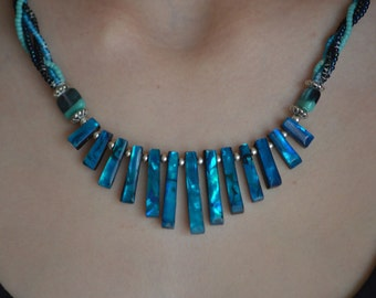 Abilone Necklace & Matching Earings