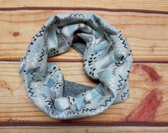 Reversible infinity scarf 6-36 months - Triangles