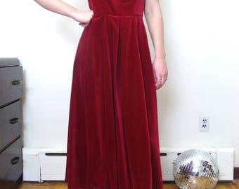 LAURA ASHLEY red velvet bow dress Size M