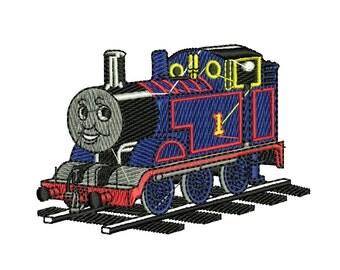Thomas the Train Embroidery Design, Thomas Tank Engine Embroidery, Train Embroidery, Percy embroidery, 4x4 Hoop Embroidery