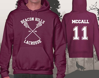 Teen Wolf Hoodie Beacon Hills Lacrosse Hoodies McCall 11 Unisex and Mens