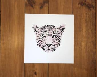 Colour Leopard / Cheetah Giclée Print