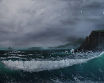Oil Painting of North Shore