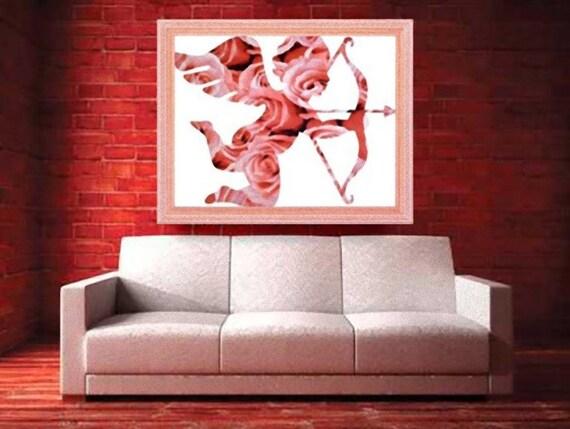 juliq5 - Kupidon art print, Kupidon wall decor, Love, Angel art ...