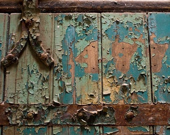 """Fine art photography color photograph Eastern State Penitentiary Philadelphia Pennsylvania rustic historic vintage wall art """"Cell 477"""""""