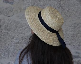 Handmade straw hat, portuguese straw, woman hat, summer hat, spring hat.