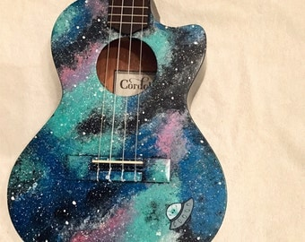 Custom Hand-Painted Galaxy Ukulele