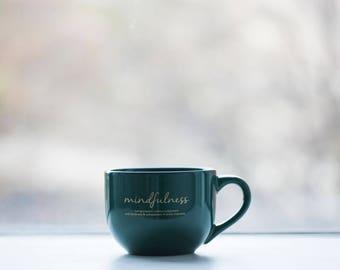 Mindful Green Cappuccino Mug