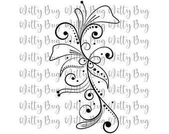 Floral SVG - SVG - svg file -  Cricut file - Cricut cut file - Silhouette cut file - Flowers - Cut File - Flower SVG
