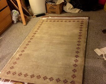 Primitive Colonial Starburst Floor Cloth 4'x6' floorcloth