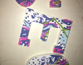 Hand Painted Lilly Pulitzer Initials