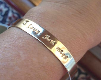Sayings Cuff Bracelet