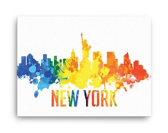New York City Skyline Canvas Print - NYC New York - Cityscape, Home Decor, Office Decor