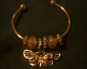 Butterfly Charm Cuff Bracelet
