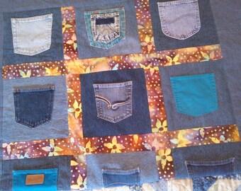 Denim Pocket Blanket