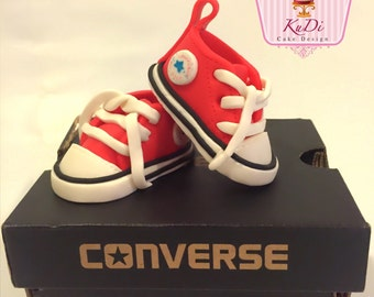 Converse baby booties Shoes Sneakers Cake Topper fondant